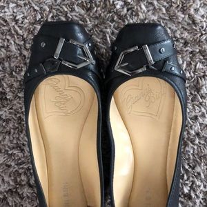 💎GIANNI BINI💎 black leather flats